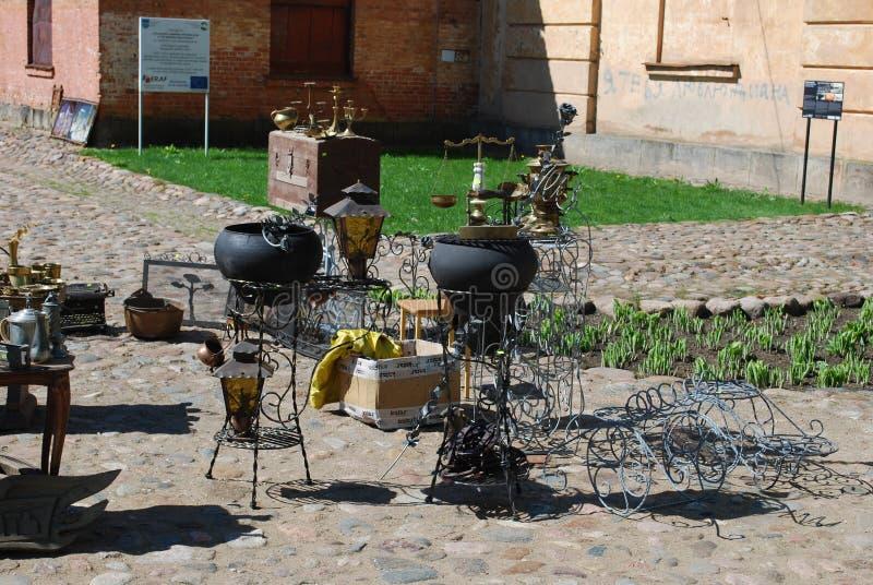 € «5-ое мая 2018 Daugavpils/Латвии: Блошинный находился на празднике в крепости Daugavpils стоковые фотографии rf