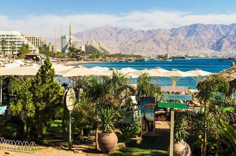 € «7-ое ноября 2017 EILAT, ИЗРАИЛЯ: взгляд города панорамный на Eilat, Израиле стоковые фотографии rf