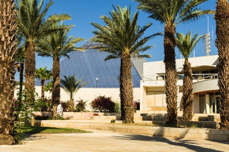 € «7-ое ноября 2017 Eilat, Израиля: центральный вход к ` Eilat Iri ` музея города, Eilat, Израиль стоковые изображения