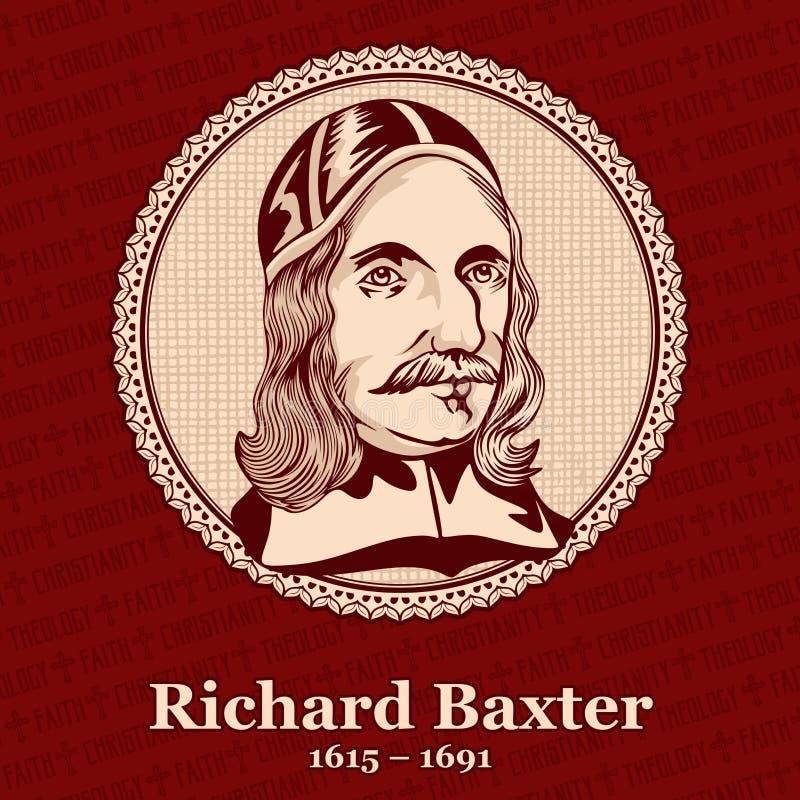 € 1615 Ричард Baxter «1691 был английскими руководителем, поэтом, hymnodist, теологом, и controversialist церков пуританина бесплатная иллюстрация