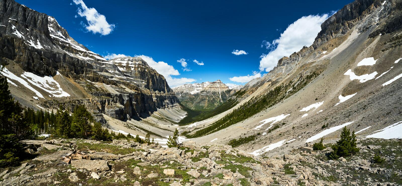 """€ """"†de Stanley Glacier del parque nacional de Kootenay """"que camina la Columbia Británica fotos de archivo libres de regalías"""