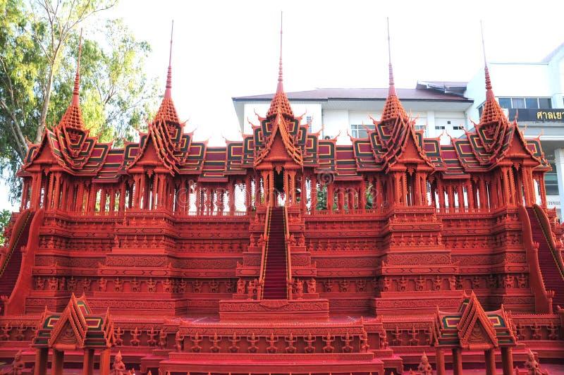 """€ """"octubre 23,2018 de Sakon Nakhon, Tailandia: El festival del castillo de la cera se lleva a cabo anualmente en el final del bu fotografía de archivo libre de regalías"""