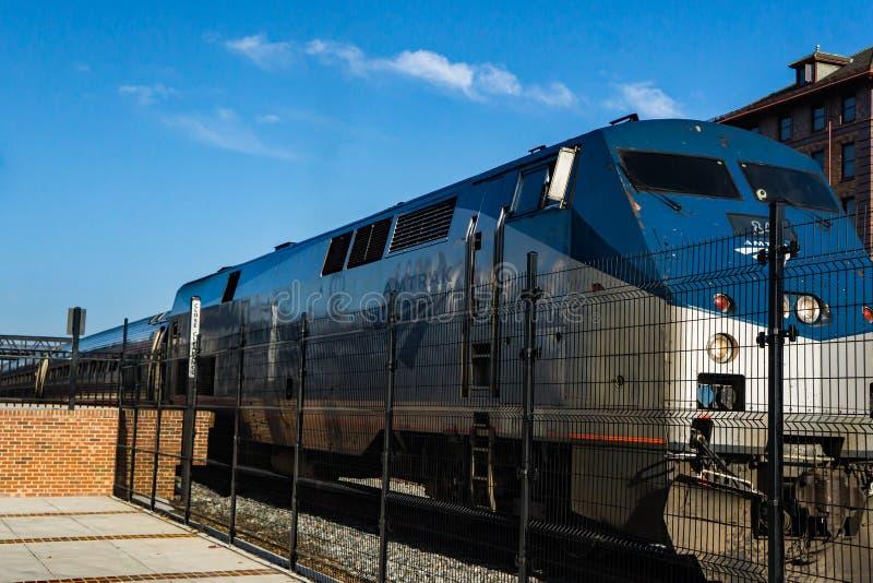 "€ ""Roanoke do motor de Amtrak, Virgínia, EUA fotografia de stock"