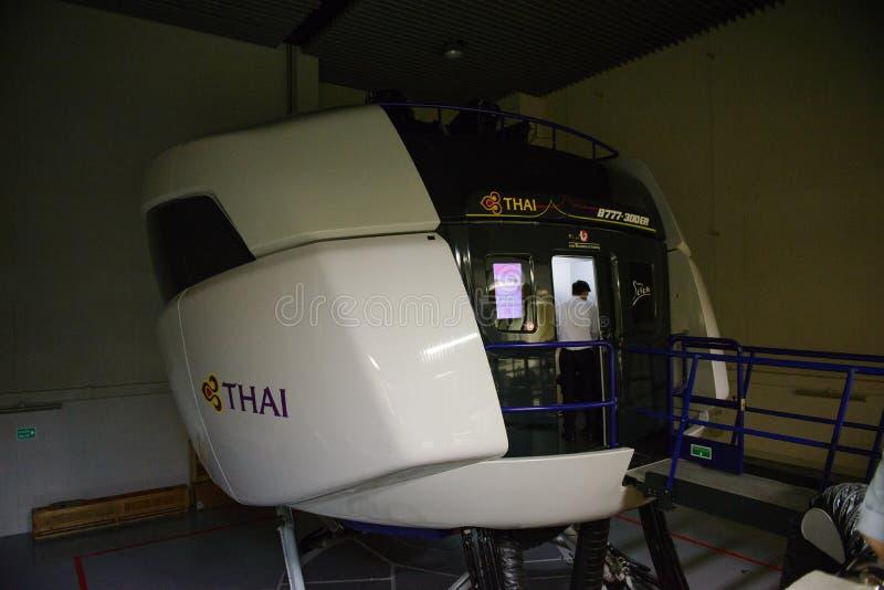 """€ Bangkoks, Thailand """"am 5. Dezember 2017: Pilotausbildungsstätte Thai Airways s Boeing 777-300ER in Bangkok lizenzfreie stockfotografie"""
