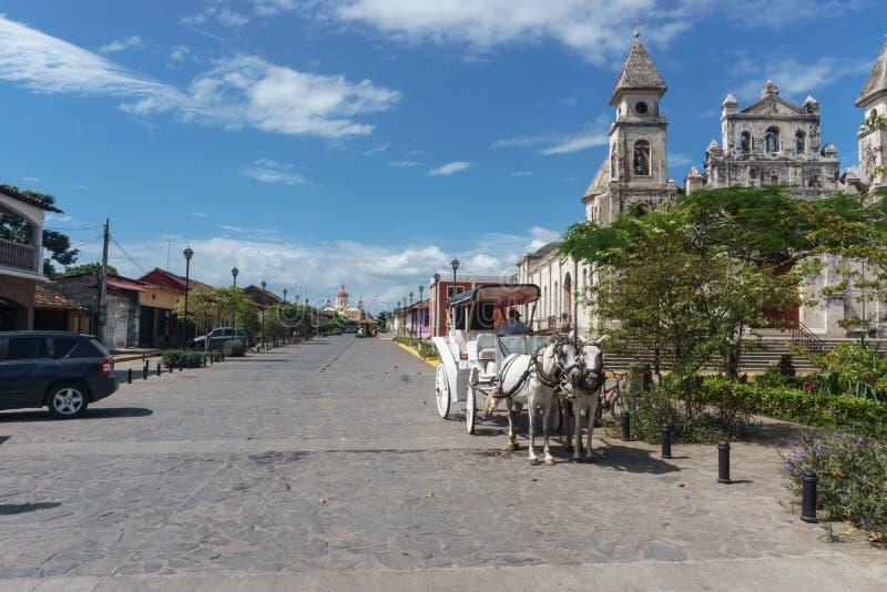 "€ de Granada, Nicarágua ""21 de dezembro de 2016: fotografia de stock"