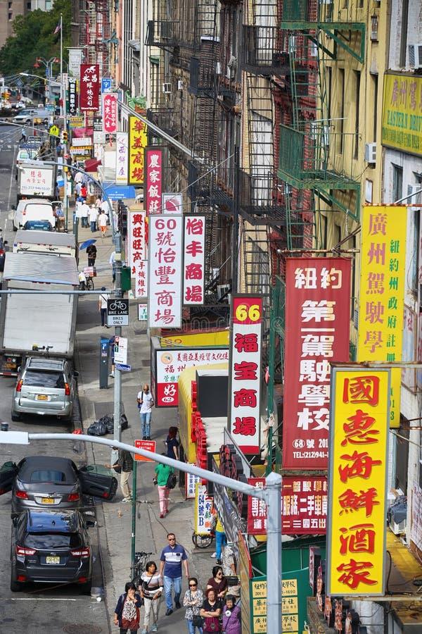 """€ de New York, EUA """"23 de agosto de 2018: Vista em E Broadway, bairro chinês fotos de stock"""