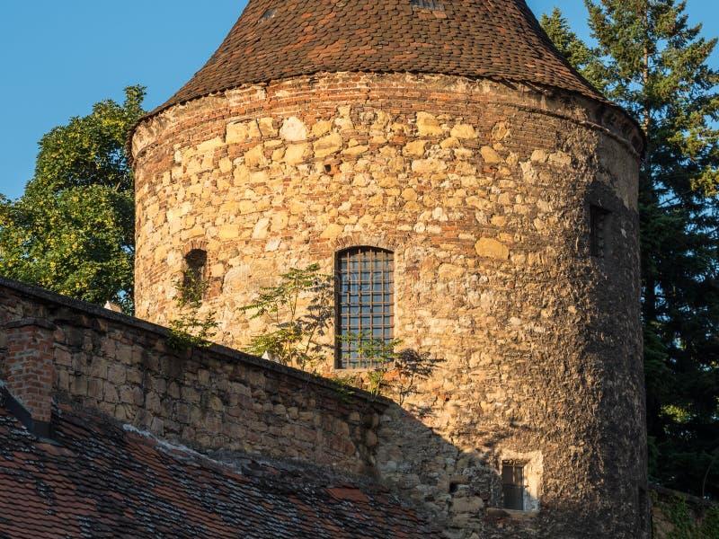 """€ de Zagreb, Croacia """"marzo de 2017 detalles arquitectónicos, culturales y religiosos de la catedral fotografía de archivo libre de regalías"""