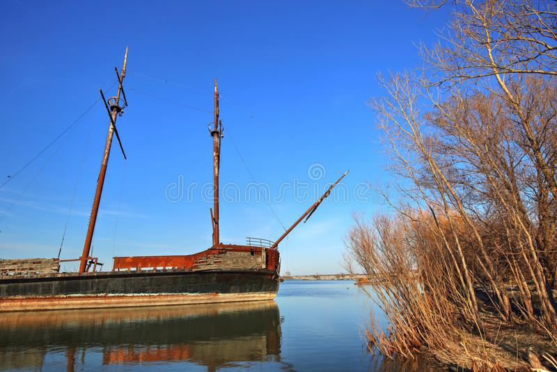 € Hermine Ла корабль большого «известный покинутый в озере Онтарио на t стоковая фотография