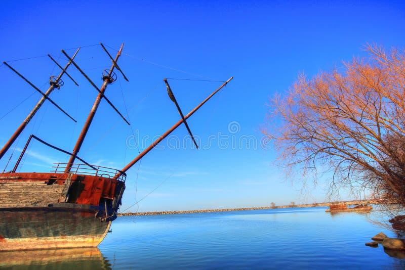 € Hermine Ла корабль большого «известный покинутый в озере Онтарио на t стоковые фотографии rf
