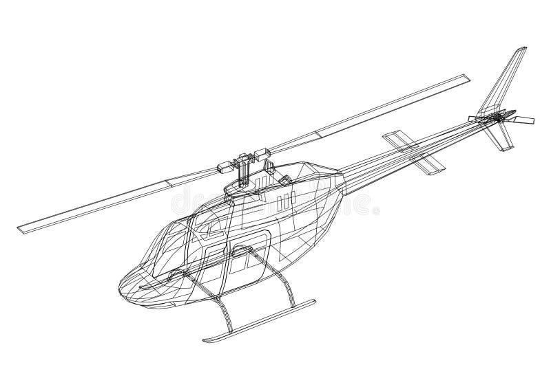 """€ Plan des Hubschraubers 3D """"lokalisiert stock abbildung"""