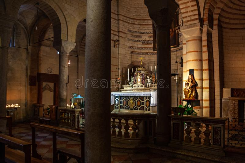 ? Veronas, Italien ?im M?rz 2019 Santa Maria Antica ist eine R?misch-katholische Kirche in Verona, Italien Die gegenw?rtige Kirch lizenzfreies stockfoto