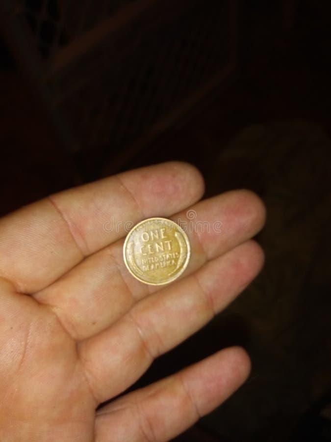 ? das moedas de um centavo de Wheatback imagens de stock royalty free