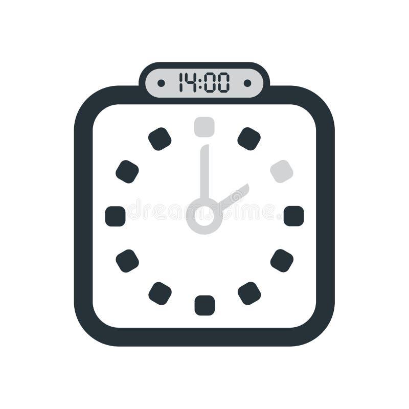 14:00、在白色背景隔绝的下午2点象,时钟和watc 皇族释放例证