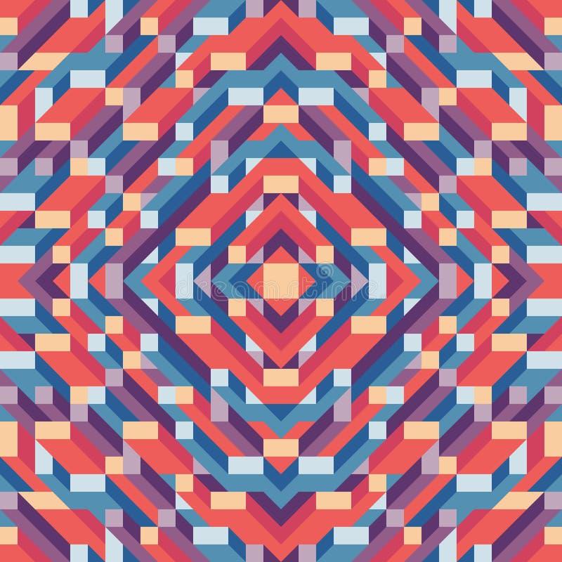 介绍、小册子、网站和其他设计项目的抽象几何传染媒介背景 马赛克与3D的色的样式 皇族释放例证