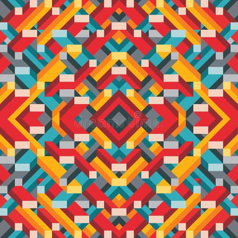 介绍、小册子、网站和其他设计项目的抽象几何传染媒介背景 马赛克色的样式 向量例证