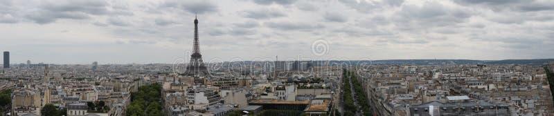 巴黎、法国和艾菲尔铁塔全景  图库摄影