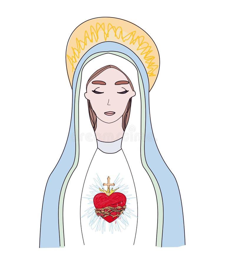 《圣母之心》,独立插图 皇族释放例证