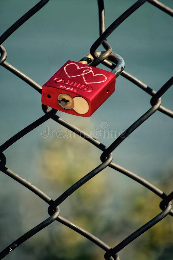 《封锁,但恋爱》 免版税库存照片