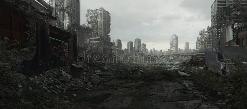 《战争与善后》 库存图片