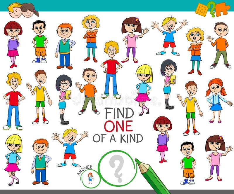一与儿童颜色书的一场亲切的比赛 库存例证