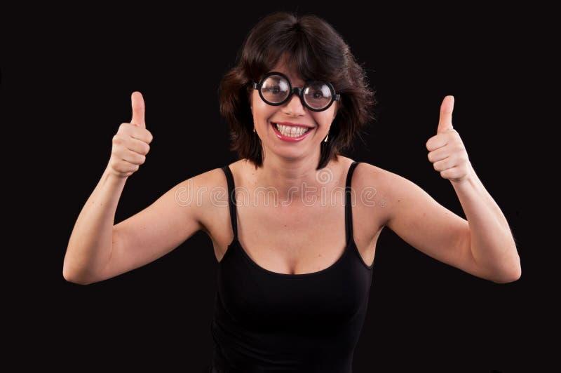 一个万人迷少妇的画象有双重赞许的 图库摄影