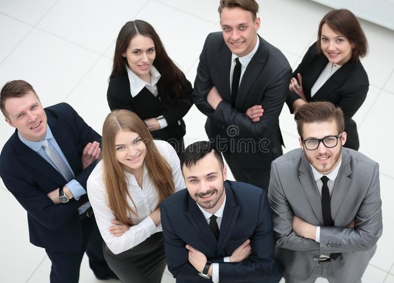 一个专业企业队的画象 免版税库存图片