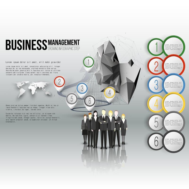 一个专业企业队身分的小组 库存例证