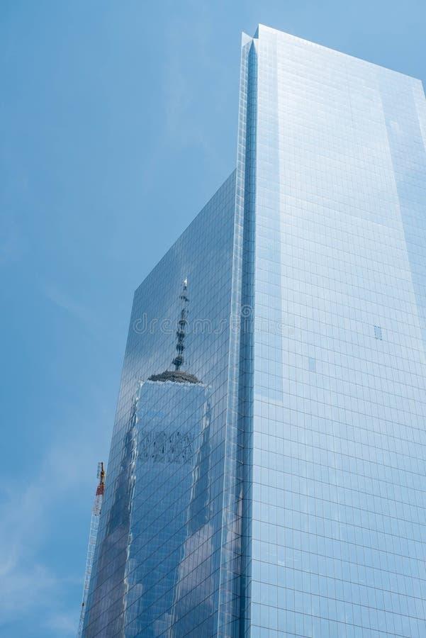 一个世界,纽约的反射 图库摄影