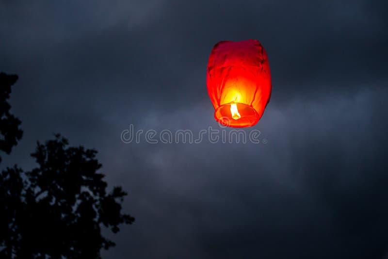 一个中国灯笼 库存图片