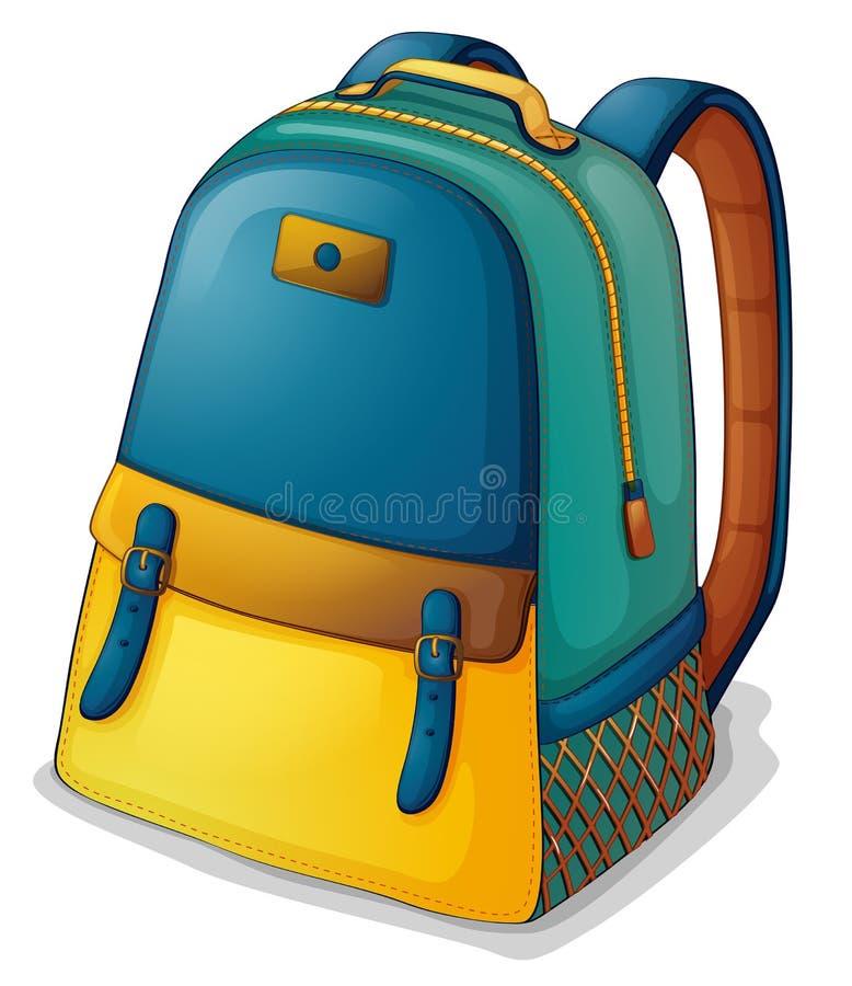 一个五颜六色的背包 库存例证