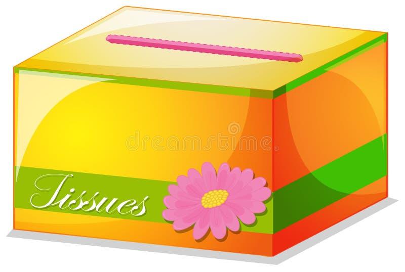 一个五颜六色的组织箱子 向量例证
