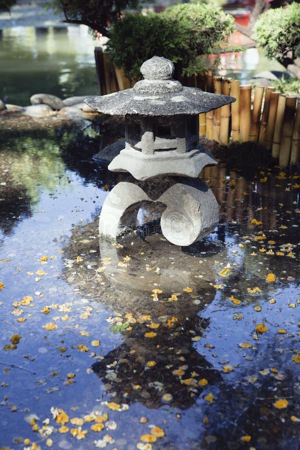 一个亚洲样式喷泉的静物画摄影 免版税库存照片