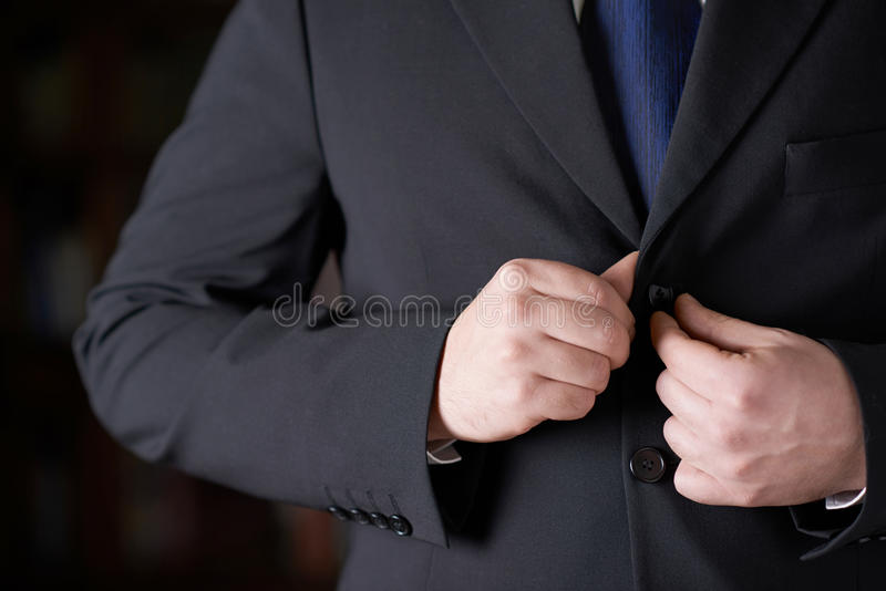 一个人的片段西装的 免版税库存图片