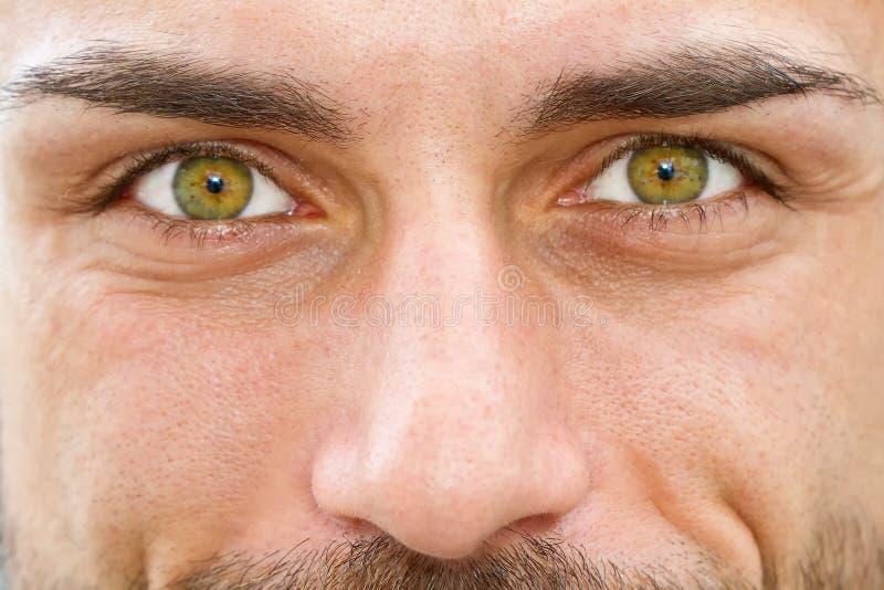 一个人的眼睛 免版税库存照片