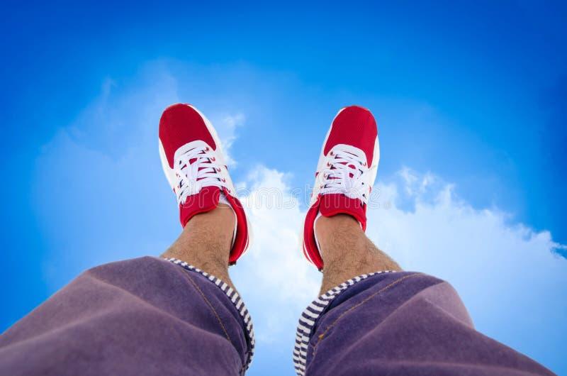 一个人的鞋子  库存照片