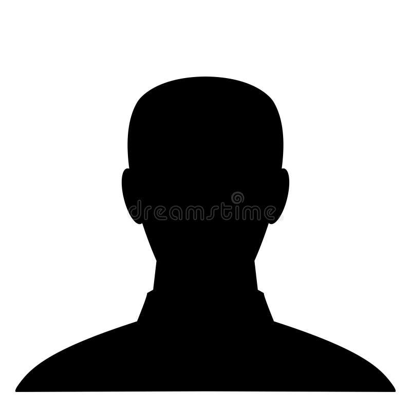 一个人的黑剪影白色背景的 r 向量例证