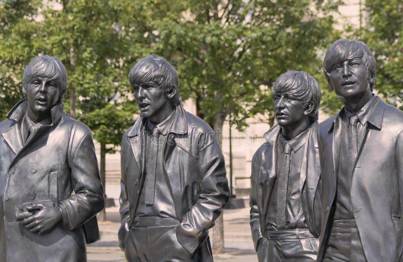 一个偶象Beatles雕象安德鲁爱德华兹,利物浦,英国,GB,英国 库存图片