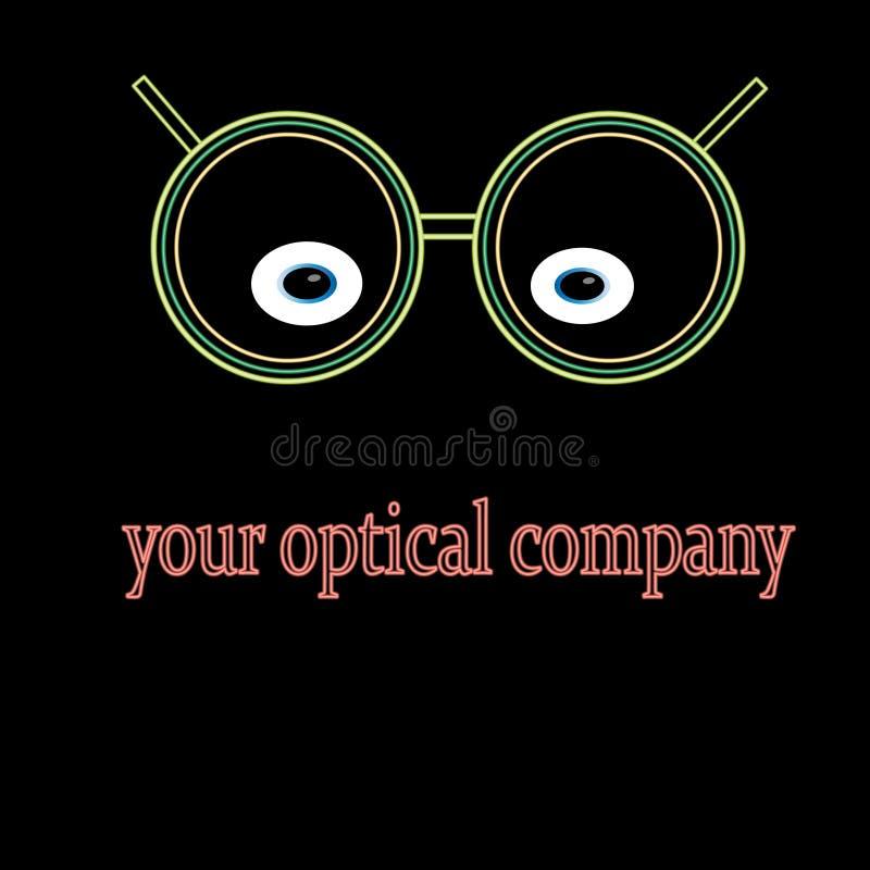 一个光学公司商标的例子 免版税库存照片
