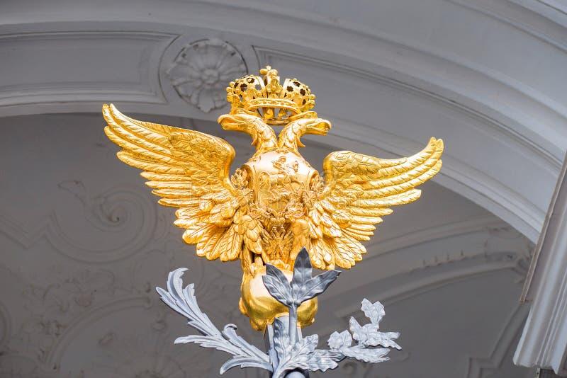 一个入口的主闸的装饰的元素对偏僻寺院的在圣彼德堡 免版税图库摄影