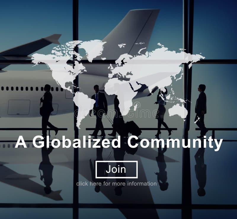 一个全球化的公共全世界连接网络概念 皇族释放例证