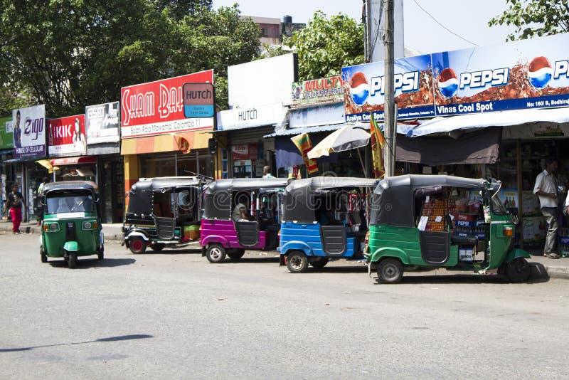 一个典型的亚洲街市,科伦坡,斯里兰卡 库存照片