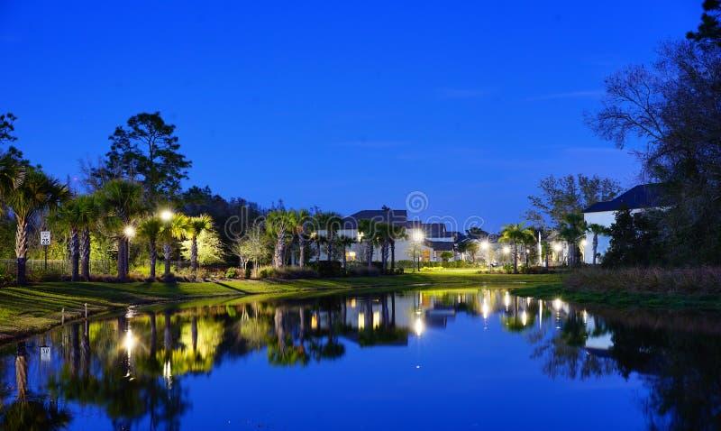 一个典型的佛罗里达房子 免版税库存图片