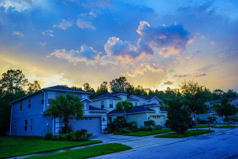 一个典型的佛罗里达房子 库存图片
