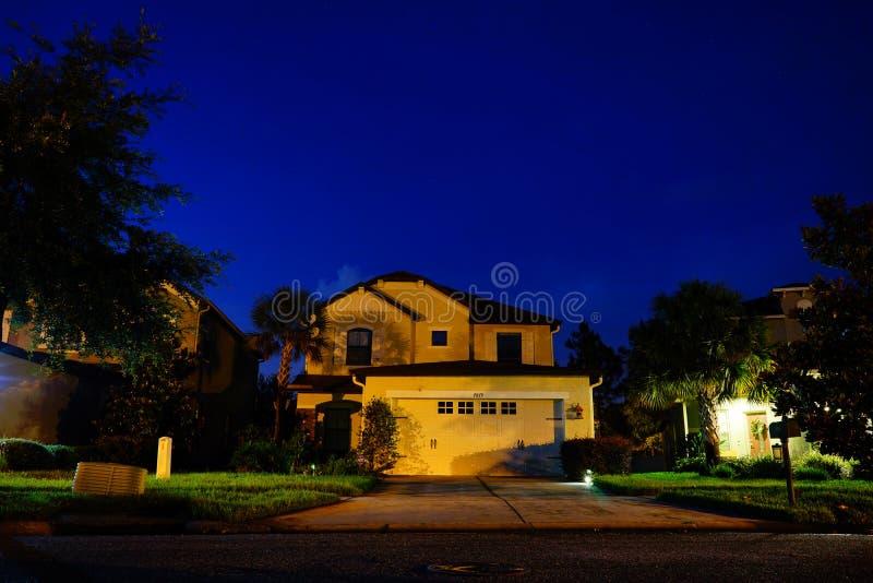 一个典型的房子在佛罗里达 库存照片