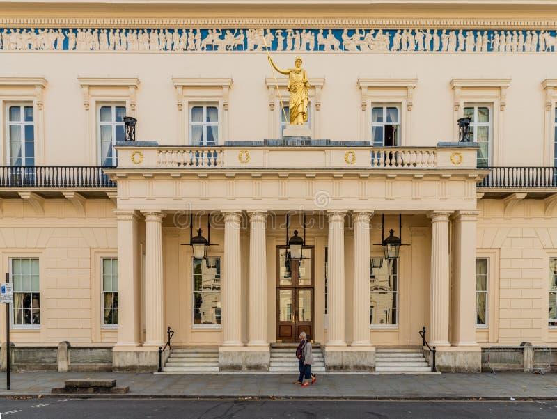 一个典型的看法在威斯敏斯特在伦敦 图库摄影