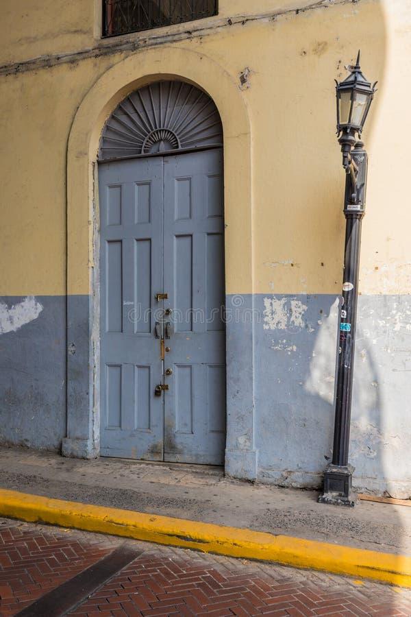 一个典型的看法在巴拿马城在巴拿马 库存照片