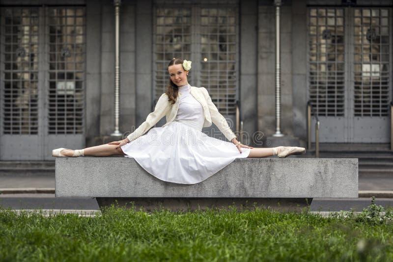 一个典雅的少妇的生活方式画象 免版税库存照片