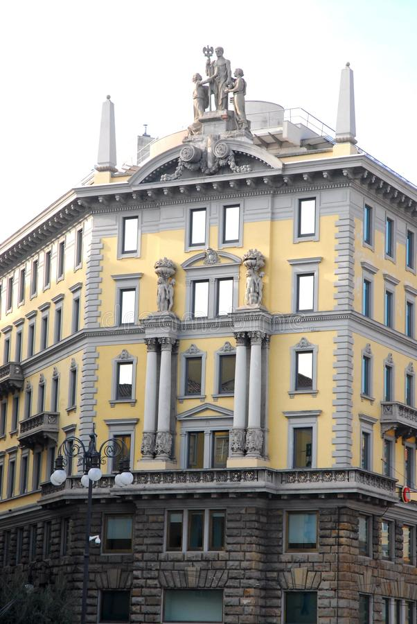 一个典雅的房子的门面威岑扎布雷甘泽省的在威尼托(意大利) 免版税库存图片