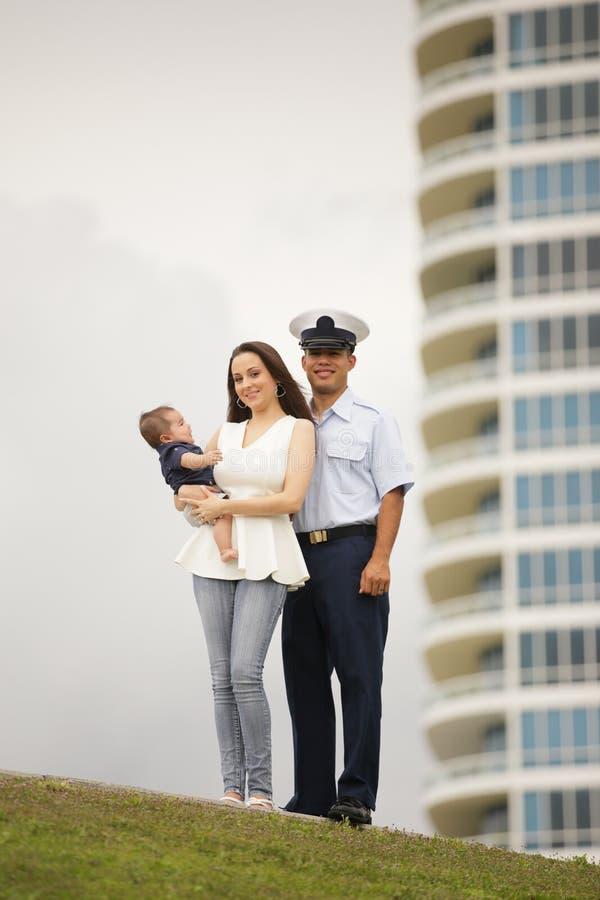 一个军事家庭的储蓄图象 库存图片