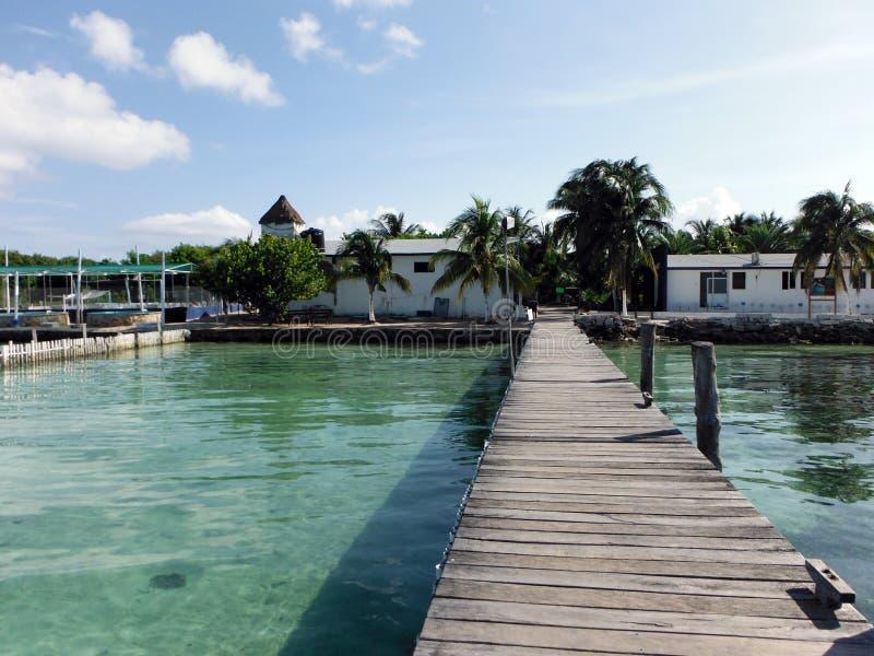 一个加勒比乌龟孵卵站的外部看法 免版税库存照片
